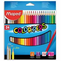 MAPED - 24 Crayons de couleur Color'Peps