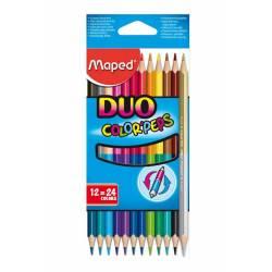 MAPED - 12 Crayons de Couleur DUO Color'Peps