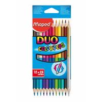 MAPED - 12 Crayons de Couleur DUO Color'Peps