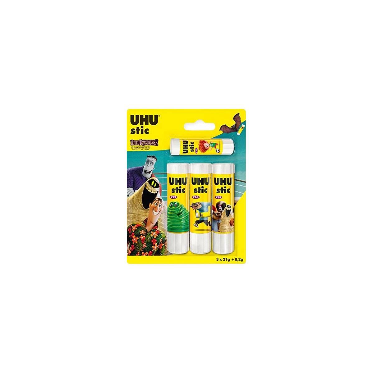 Lot de batons de colle UHU 21 gr + 1 stick 8,2 gr gratis