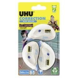 Lot de 3 Rollers UHU Correcteur Mini - 6 metres