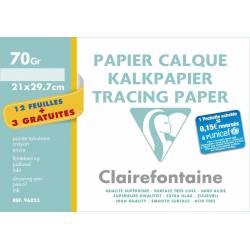 Clairefontaine - Papier Claque - Pochette de 12 Feuilles + 3 Gratuites