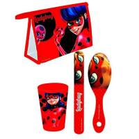 Miraculous Lady Bug - Trousse de Toilette + Set de Voyage