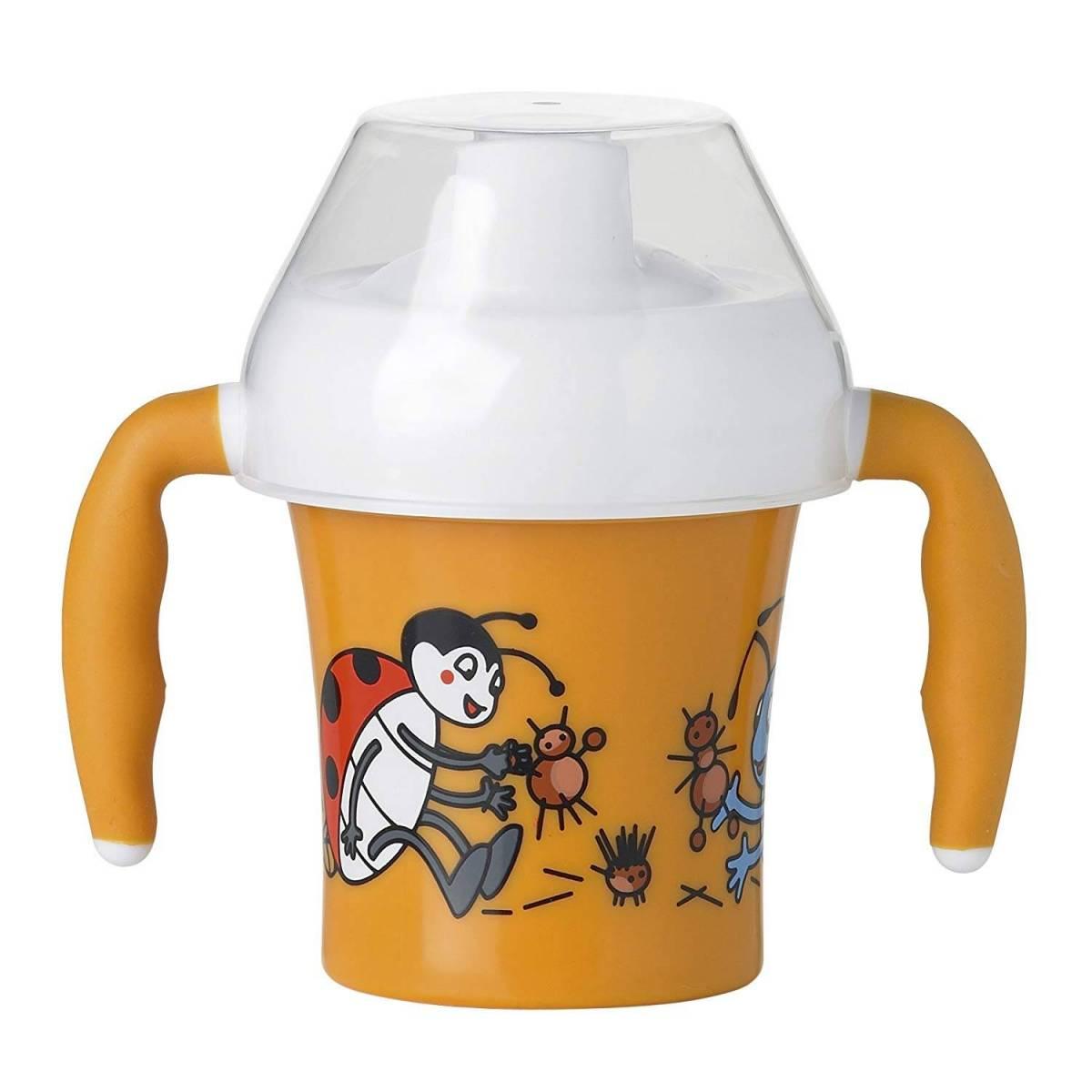 Emsa - Gobelet d'Apprentissage avec Poignées - 0.2 L - Orange