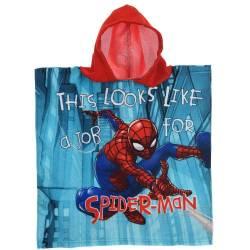 Poncho / Cape de Bain Spiderman 3 à 6 ans