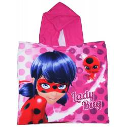 Cape de bain Fille Miraculous Lady Bug