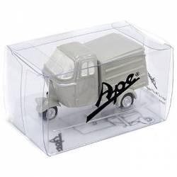 Vehicule Miniature Magnet Piaggio APE gris clair (type A)