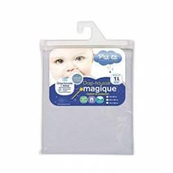 P'tit Lit - Drap Housse Magique 2-1 Gris - 60 x 125 cm