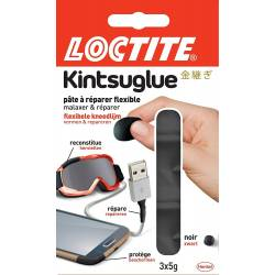 Loctite - Pâte à Réparer Flexible Kintsuglue Noir - 3 x 5 g