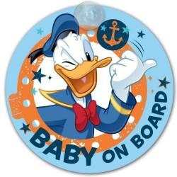 Baby on board pour voiture ventouse Donald Duck