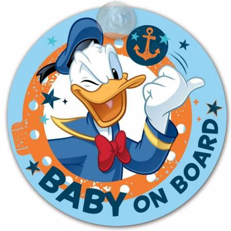 baby on board pour voiture ventouse Disney Baby - Donald Duck