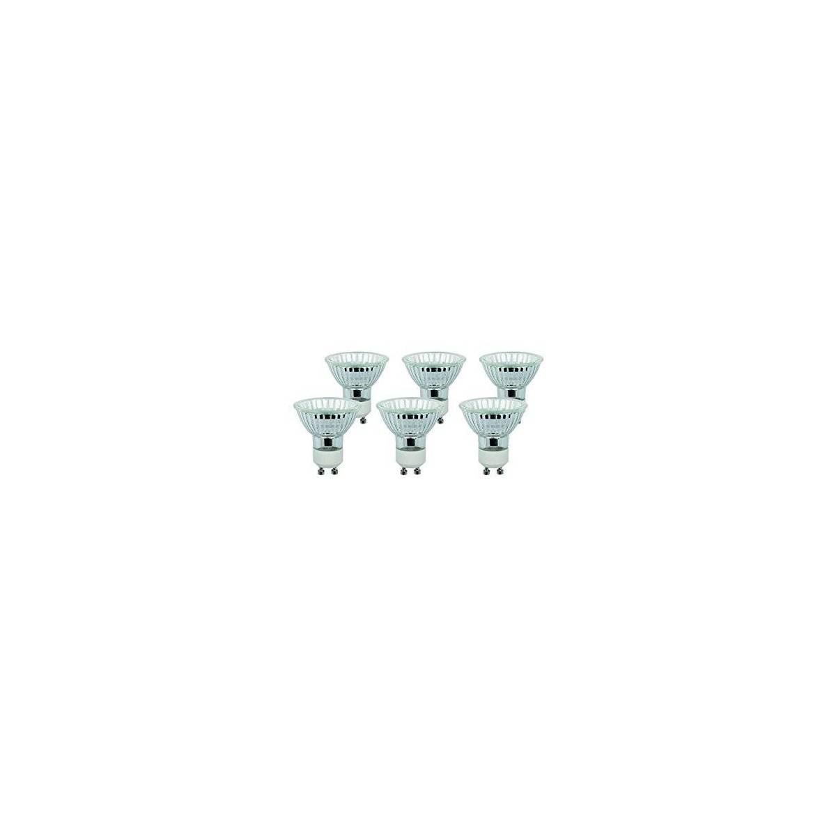 Diall - Lot de 6 Ampoules halogènes GU10 Spot 40W Blanc chaud ( livraison gratuit )