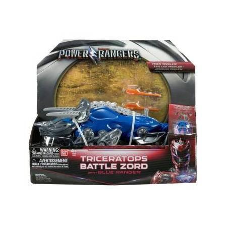 Power Rangers - Zord Légendaire Tricératops avec Ranger Bleu