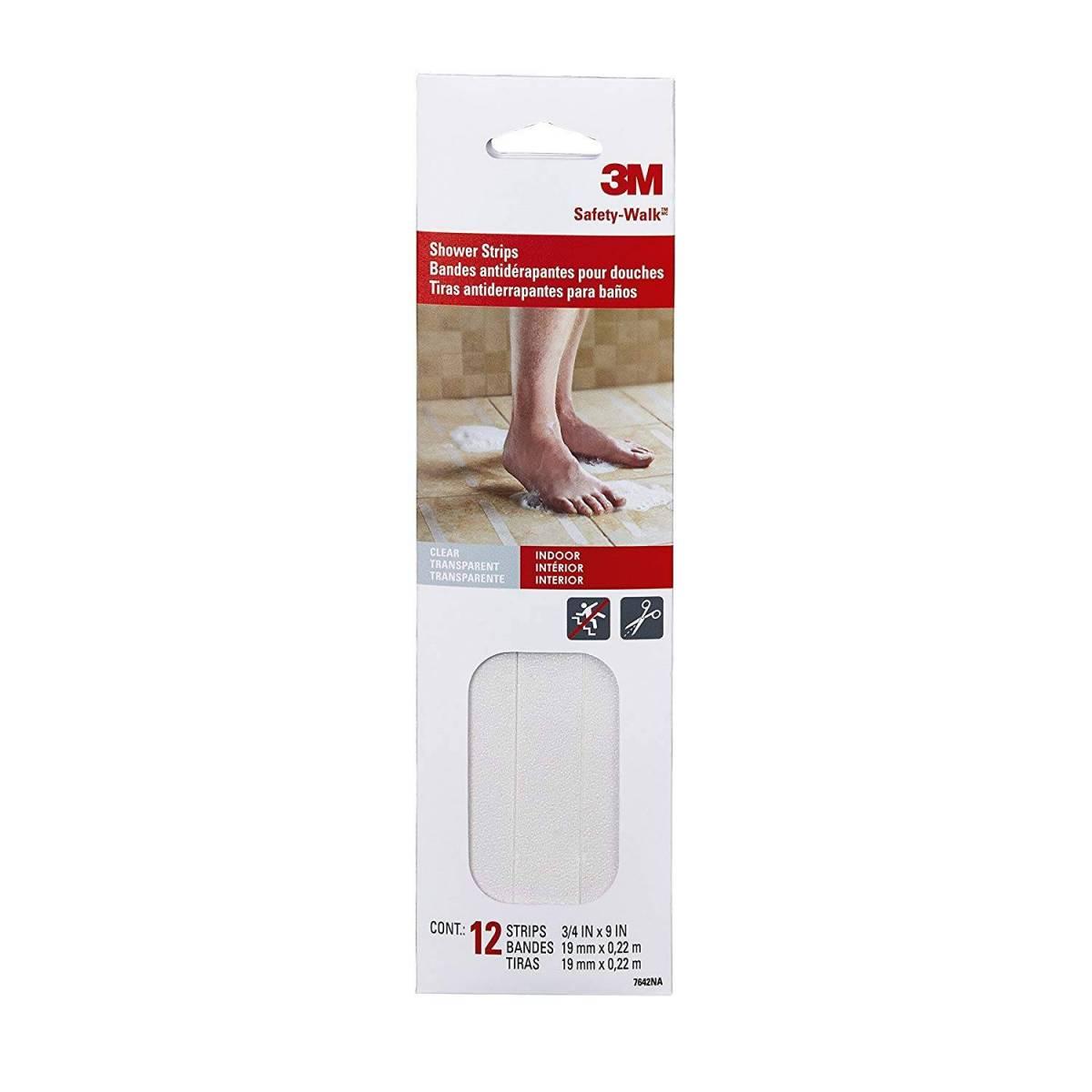 3m Bath & Shower Safety-Walk Bottines 7642NA CLR