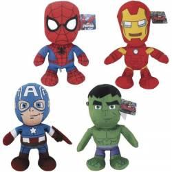 Marvel - Peluche Avengers 30 cm : Hulk, Iron man et Captain America
