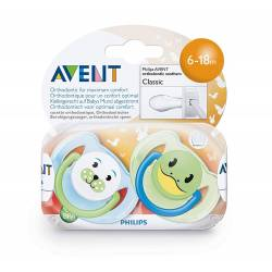 Philips Avent - Lot de 2 Sucettes Animal - 6-18 mois
