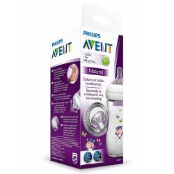 Philips Avent - Biberon Natural PP Hippo - 260 ml