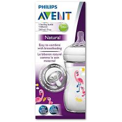 Philips Avent - Biberon Natural PP Flamant Rose - 260 ml