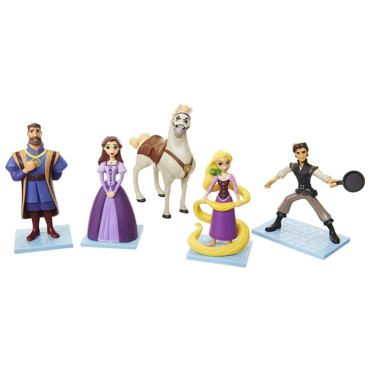 Disney Raiponce Set 5 Figurines De Collection