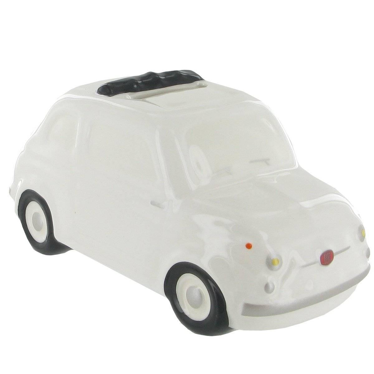 Fiat 500 Tirelire ceramique blanche Petit modéle