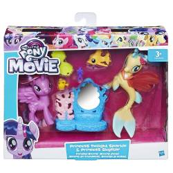 My Little Pony - Lot de 2 Poneys Moments d'Amitié - Princess Twilight Sparkle et Princess Skystar