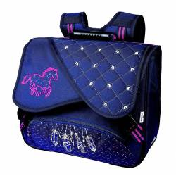 Cartable Cheval Plumes 2 compartiments