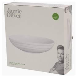 Jamie Oliver - Grand saladier «Waves» en porcelaine fine - design contemporain - blanc cassé - passe au lave-vaisselle et au mic