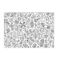 Kleurplaat placemat X10 - 30 x 42 cm