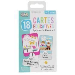 Carte Educative j'Apprend l'Heure -24 pièces