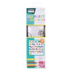 Buchstaben-Teppich zum Ausmalen mit Filz - 50 x 50 cm