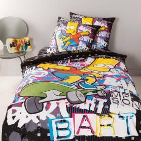 mickey mouse parure housse de couette 1 personne 140x200. Black Bedroom Furniture Sets. Home Design Ideas