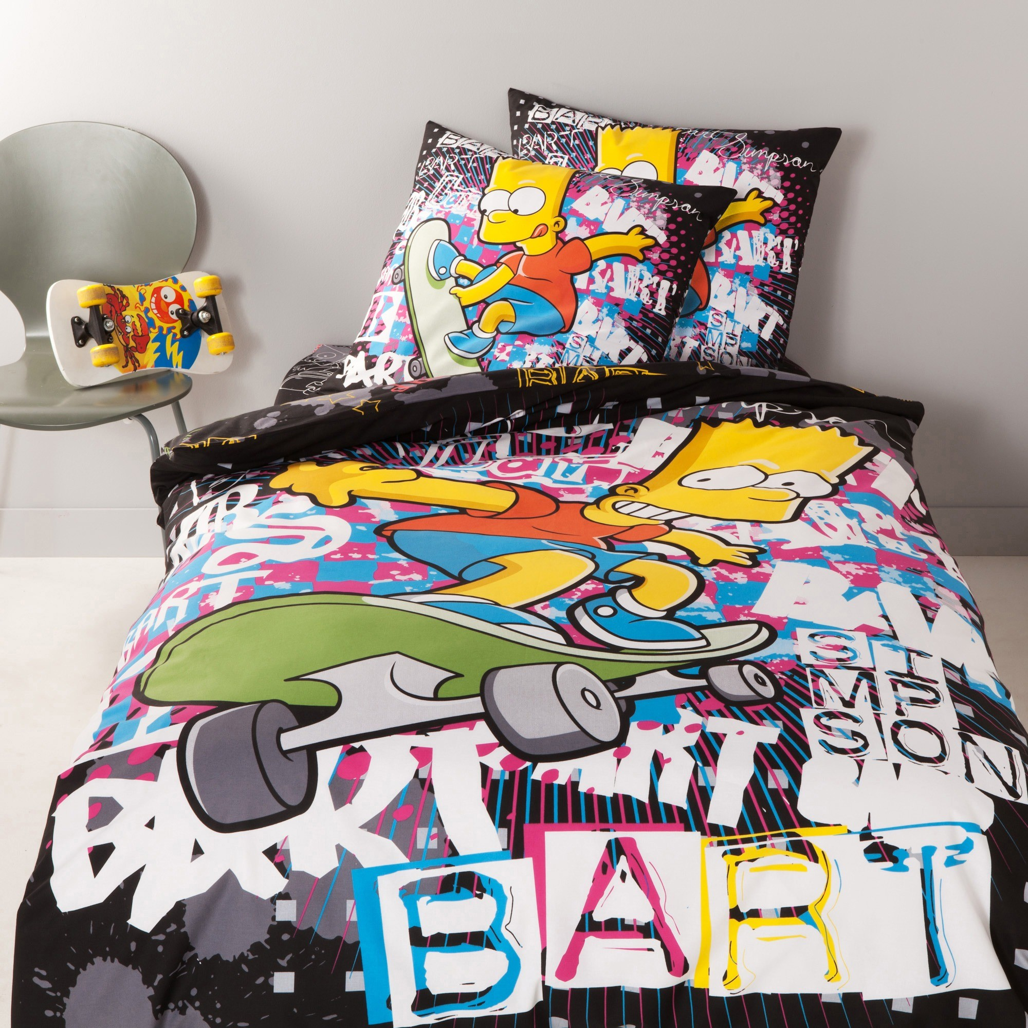 avis bart simpson graffiti housse de couette the. Black Bedroom Furniture Sets. Home Design Ideas