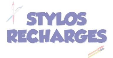 Bolígrafos y recargas