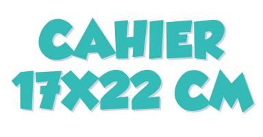 Cahiers 17 x 22 cm