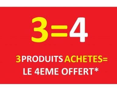 3 PRODUITS ACHETES - 4 EME OFFERT